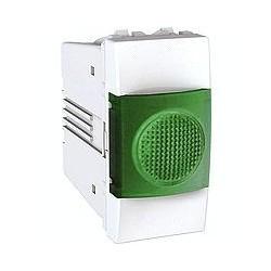 Voyant Lumineux Vert 220 VCA 1 Module - Blanc Schneider Unica
