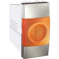 Voyant Lumineux Orange 220 VCA 1 Module - Aluminium Schneider Unica