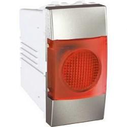 Voyant Lumineux Rouge 220 VCA 1 Module - Aluminium Schneider Unica