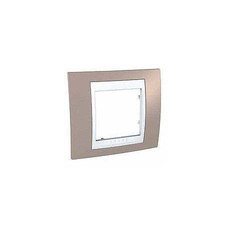 Plaque de finition 1 poste 2 modules vison blanc - Plaque de finition ...