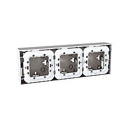 Boite pour Montage en Saillie 3 Poste 3x2 Modules - Blanc Schneider Unica