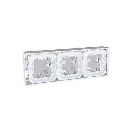 boite pour montage en saillie 3 poste 3x2 modules gris schneider. Black Bedroom Furniture Sets. Home Design Ideas