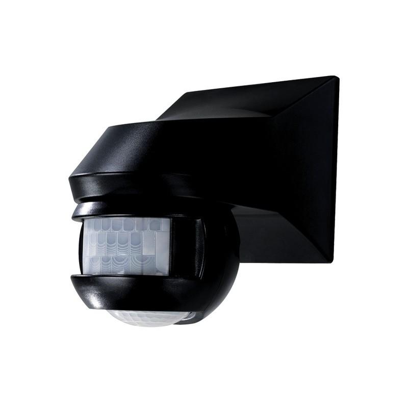 Detecteur de mouvement mural orientable noir 150 for Detecteur mouvement exterieur