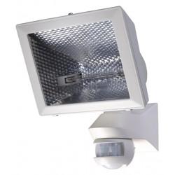 Spot éco-halogène de 400 W Detecteur de Mouvement Orientable Mural Blanc 150° Exterieur LUXA 102-150/500W Theben