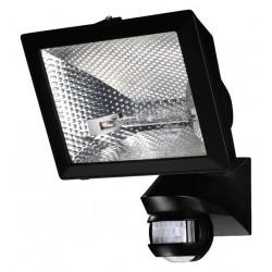 Spot éco-halogène de 400 W Detecteur de Mouvement Orientable Mural Noir 150° Exterieur LUXA 102-150/500W Theben