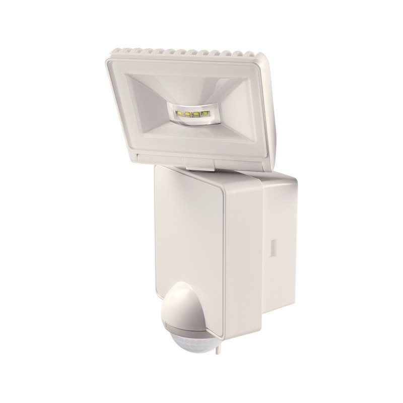Spot 8 w avec detecteur de mouvement mural orientable blanc for Spot exterieur detecteur mouvement