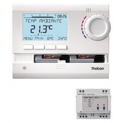 Thermostat Programmable Radiocommandé Rail DIN 2 canaux à Piles RAMSES 833 top2 HF Set 2 Theben