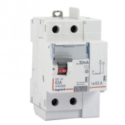 Interrupteur différentiel automatique 63A Legrand ID DX 3 type AC Sans Vis 2P 30mA