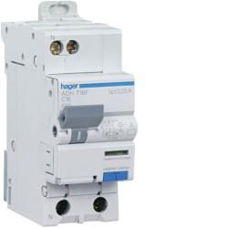 Disjoncteur Différentiel Hager 10A AC 30mA Courbe C 1P+N 3kA