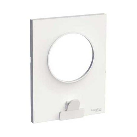 plaque schneider odace styl pratic blanc 1 poste avec pince. Black Bedroom Furniture Sets. Home Design Ideas