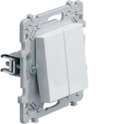 Double Interrupteur Va-et-Vient (VV) à griffes Hager Essensya