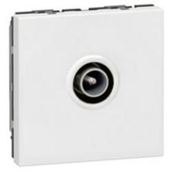 Prise TV Legrand Mosaic - Ø9,52mm male - 2 modules - blanc