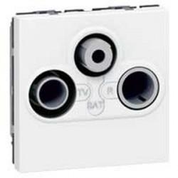 Prise TV FM SAT Legrand Mosaic - 2 modules - blanc
