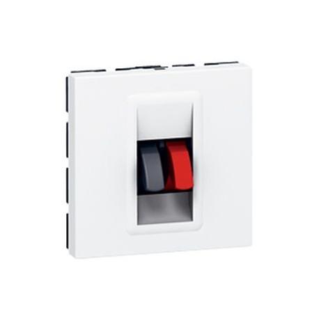 prise haut parleur legrand mosaic 2 modules blanc 078751. Black Bedroom Furniture Sets. Home Design Ideas