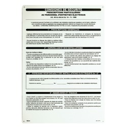 PANCARTE PVC CONSIGNE SECU. 350X500 - Bizline