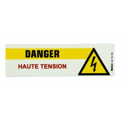 PLAQUE DANGER HAUTE TENSION PVC 200X60 - Bizline