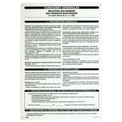 PANCARTE PVC CONSIGNE GLE 350X500 - Bizline