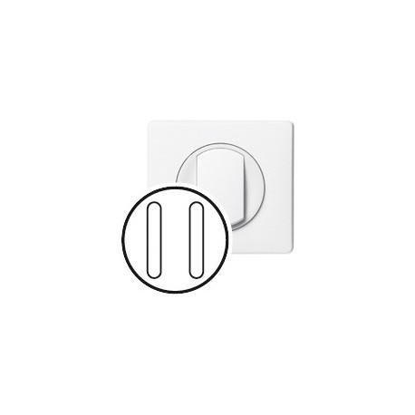 Double poussoir silencieux Legrand celiane blanc complet
