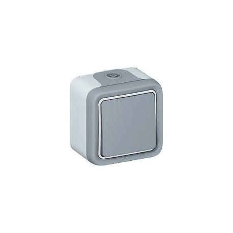 Poussoir etanche saillie gris Legrand plexo ip55