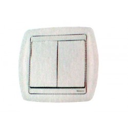 Bouton poussoir double rf 2 contacts blanc domotique Moeller