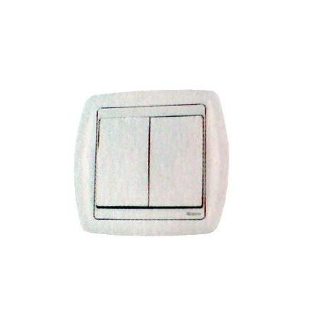 Bouton poussoir double rf 2 contacts blanc domotique Moeller