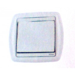 Bouton poussoir simple rf un contact blanc domotique Moeller