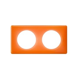 PLAQUE 2 POSTES ORANGE 70S - Legrand