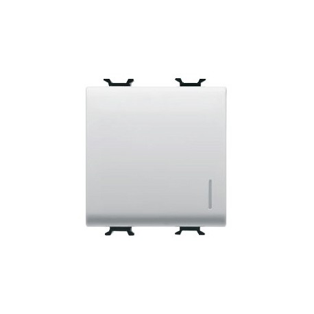 Bouton poussoir 2m lumineux connexion rapide blanc Gewiss chorus