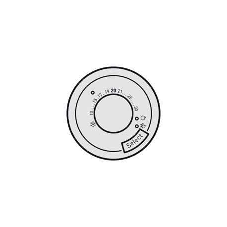 enjoliveur tita thermostat fil pilote legrand 068545. Black Bedroom Furniture Sets. Home Design Ideas
