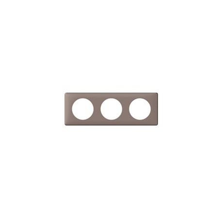 Plaque taupe 3 postes Legrand celiane entraxe 71mm