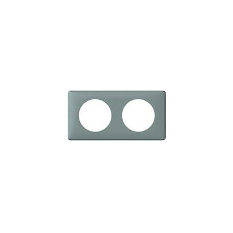 Plaque ciment 2 postes Legrand celiane entraxe 71mm