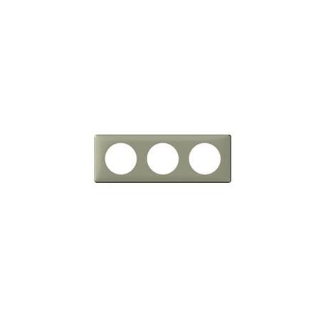 Plaque kaki 3 postes Legrand celiane entraxe 71mm