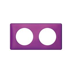 Kit Plaque 2 Postes VIOLET IRISE + Support - Legrand