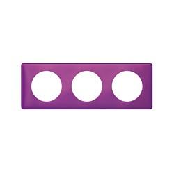 Kit Plaque 3 Postes VIOLET IRISE + Support - Legrand