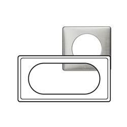 Kit Plaque 2 Postes ETENDUES 4/5 Modules ALU SNAKE + Support - Legrand