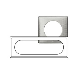Kit Plaque 3 Postes ETENDUES 6/8 Modules ALU SNAKE + Support - Legrand