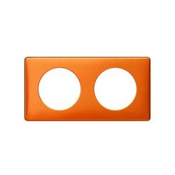 Kit Plaque 2 Postes ORANGE SNAKE + Support - Legrand