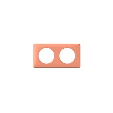 Plaque mirabelle 2 postes Legrand celiane entraxe 71mm