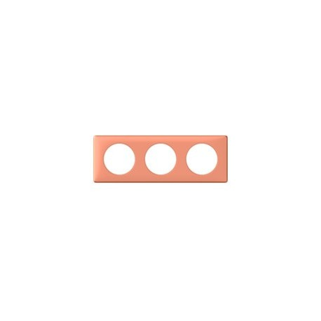 Plaque mirabelle 3 postes Legrand celiane entraxe 71mm