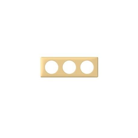 Plaque pamplemousse 3 postes Legrand celiane entraxe 71mm
