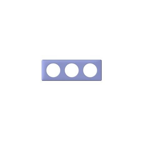 Plaque lavande 3 postes Legrand celiane entraxe 71mm