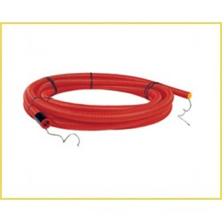 Gaine TPC Rouge Diam. 40mm Double Paroi long, 25m cable