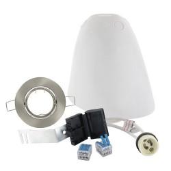 Kit BLM SPOTBOX NO AIR BBC spot LED encastré ALU orient. + alim. 220V