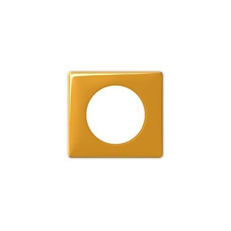 Plaque mandarine Legrand celiane 1 poste avec support a vis