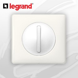 interrupteur Va-et-vient doigt Etroit Slim complet Legrand Celiane Blanc Glossy Yesterday