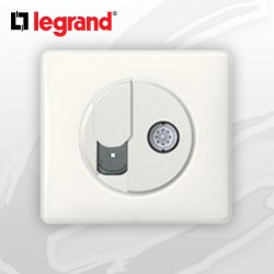 Prise RJ45 Cat 6 + TV complete Legrand Celiane Blanc Glossy Yesterday