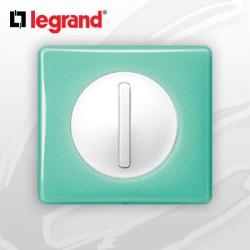 interrupteur Va-et-vient doigt Etroit Slim complet Legrand Celiane 50's Turquoise