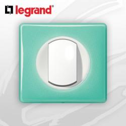 Poussoir complet Legrand Celiane 50's Turquoise (doigt large)