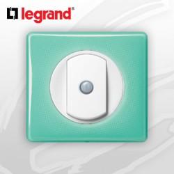 interrupteur Va-et-vient Intuition complet Legrand Celiane 50's Turquoise (doigt large)