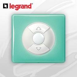 Interrupteur Volet-Rolant complet Legrand Celiane 50's Turquoise